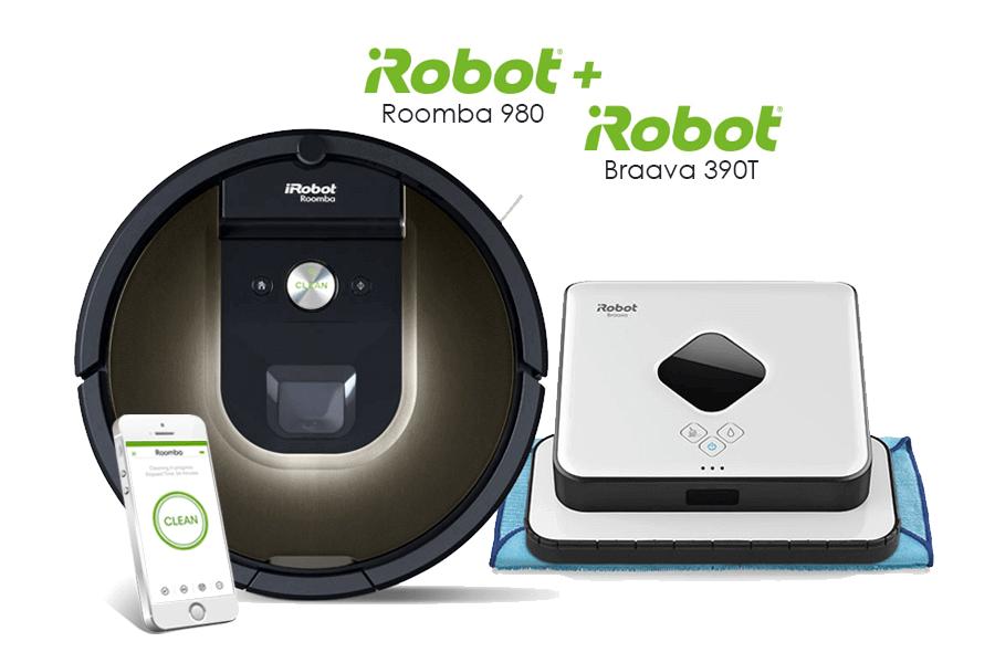 iRobot Roomba 980 iRobot Braava 390T