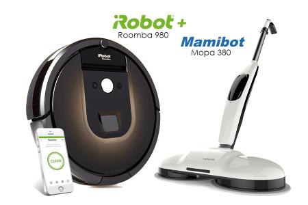 iRobot Roomba 980 Mamibot Mopa 380
